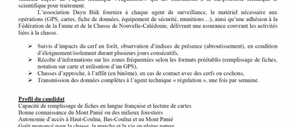 Appel à candidature - Agents de surveillance