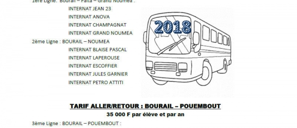 Inscription au transport scolaire 2018