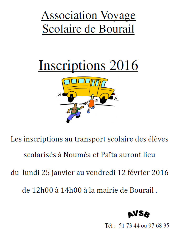 Transport scolaire 2016